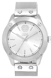 Vince Camuto Mesh Band Watch 41Mm Silver