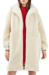 Topshop Women's Polar Bear Faux Fur Coat