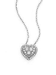 Saks Fifth Avenue Diamond And 14K White Gold Heart Necklace