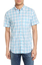 Bonobos Men's Slim Fit Plaid Sport Shirt Sea Check Blue