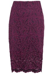Sams0e And Sams0e Alia Plum Stretch Lace Skirt Dark Purple