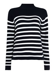Samsoe And Samsoe Marlus T Neck Stripe Jumper Multi Coloured Multi Coloured