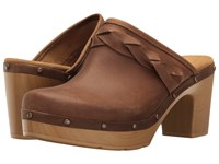 Clarks Ledella Meg Light Tan Leather Women's Sandals Brown