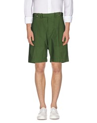 Umit Benan Trousers Bermuda Shorts Men Green