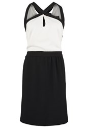 Morgan Reva Cocktail Dress Party Dress Ecru Noir Off White