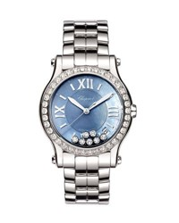 Chopard 36Mm Happy Sport Automatic Bracelet Watch With Diamonds