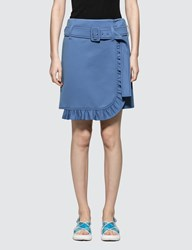 Prada Miniskirt With Belt And Ruching