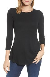 Bobeau Brushed Babydoll Tunic Black