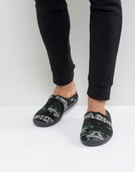 Toms Berkeley Forest Slippers In Gift Box Black
