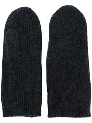 Isabel Marant Ribbed Cashmere Gloves Women Cashmere One Size Grey
