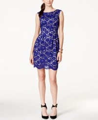 Vince Camuto Sleeveless Boat Neck Lace Dress
