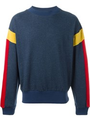 Gosha Rubchinskiy Striped Sleeve Sweatshirt Blue