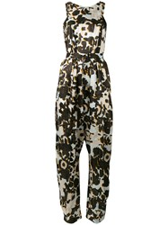 Christian Wijnants Floral Jumpsuit Women Silk 36 Black