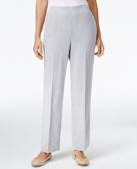 Alfred Dunner Petite Northern Lights Pull On Pants Silver