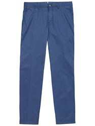 J. Lindeberg Chaze Season Stretch Chino Trousers Steel Blue