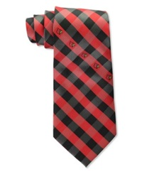 Eagles Wings Louisville Cardinals Checked Tie Team Color