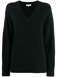 Vince Oversized Long Sleeve Sweater Black