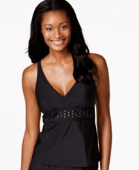 Inc International Concepts Studded V Neck Tankini Top Only At Macy's Women's Swimsuit
