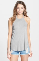 Junior Women's Soprano Halter Tank Heather Grey