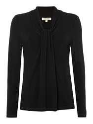 Linea Knot Front Jersey Top Black