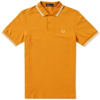 Fred Perry Slim Fit Twin Tipped Polo Orange