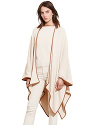 Lauren Ralph Lauren Faux Leather Trimmed Cape Natural Sand