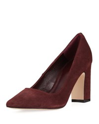 Etienne Aigner Julie Pointed Toe Suede Pump Burgundy