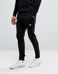 Only And Sons Joggers With Badge Detailing Black