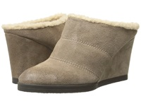 Tahari Spencer Cabin Taupe Burnised Calf Suede Women's Wedge Shoes Beige