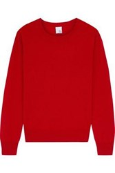 Iris And Ink Woman Aliciella Gathered Cashmere Sweater Crimson