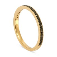 Sb London Gold Eternity Back With Black Spinel