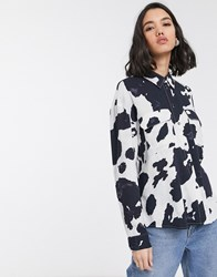Only Shirt With Pockets In Cow Print Multi