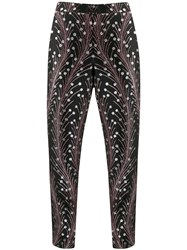 Marco De Vincenzo Slim Fit Jacquard Trousers Black