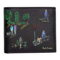Paul Smith Grey London Parks Wallet Pr Printed