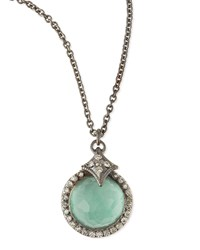 New World Quartz Green Turquoise Pendant Necklace Armenta Silver
