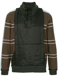 Craig Green Shell Panelled Sweater Brown