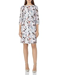 Reiss Marianne Abstract Print Dress Off White Multi