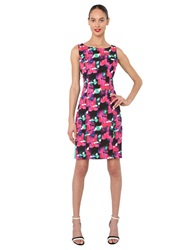 Isaac Mizrahi Multi Colored Printed Dress Pink