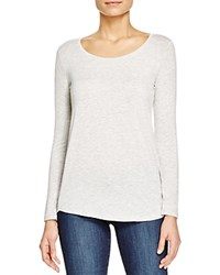 Majestic Filatures Oversize Scoop Neck Long Sleeve Tee Nacre Chine