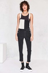 Guess 1981 Colorblock Dungaree Overall Black And White