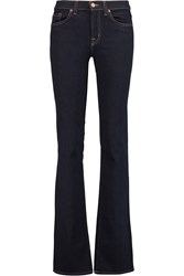 J Brand Low Rise Flared Jeans Blue