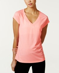 Ideology Rapidry Heathered Performance T Shirt Only At Macy's Silver Ice