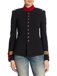 Ralph Lauren The Officer's Double Faced Wool Jacket Black