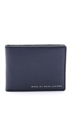 Marc By Marc Jacobs Classic Leather Martin Wallet Washed Ink