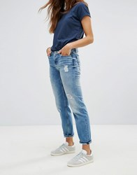 Tommy Hilfiger Denim Straightcut Ripped Jeans Blue