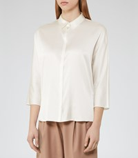 Reiss Larue Womens Satin Blouse In White