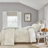 Sanderson Anthea Duvet Set Grey Linen Neutral