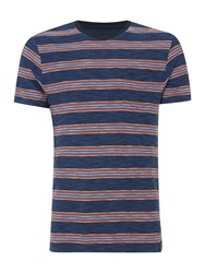 Criminal Howard Stripe Tshirt Navy