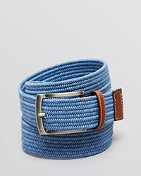 The Men's Store At Bloomingdale's Stretch Braided Belt Light Blue