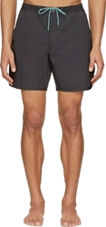 Marc By Marc Jacobs Black Solid Swim Shorts